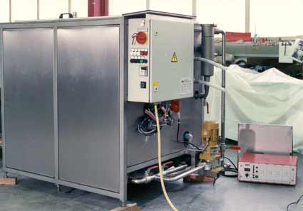 Single chamber ultrasonic cleaning tank in stainless steel version